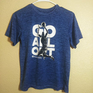 Champion boys 14 16 blue basketball tshirt Athleti